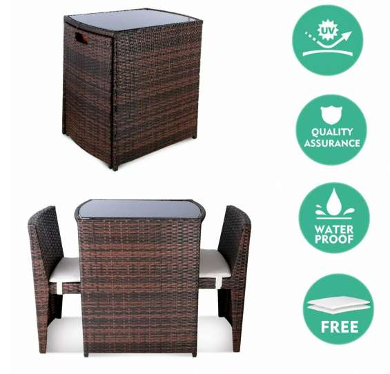 Patio furniture set 3 pcs