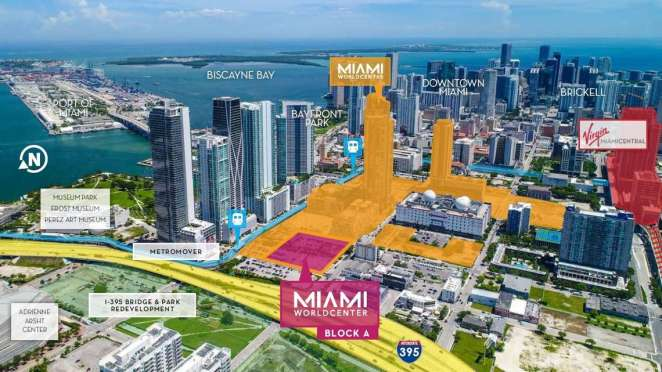 Mapa de Miami Worldcenter