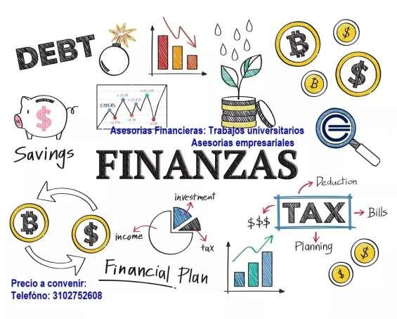 Asesorias, trabajos, servicios en finanzas excel, tutorias
