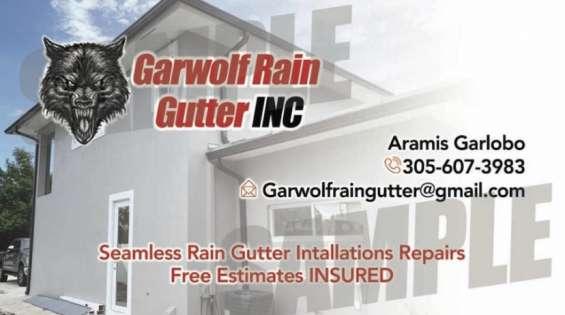Seamles rain gutter